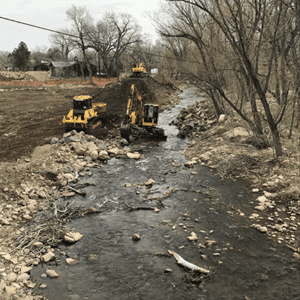 left-hand creek restoration